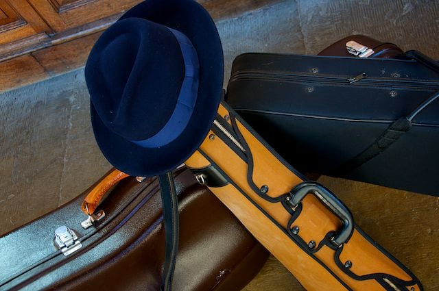 contact us or book fedora strings