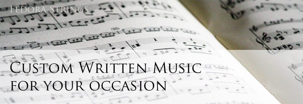custom sheet music for strings arrangements
